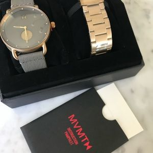 MVMT Grey-Faced 2-bracelet option watch
